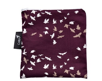 Ready to ship - Reusable Snack Bag - Flock with zipper