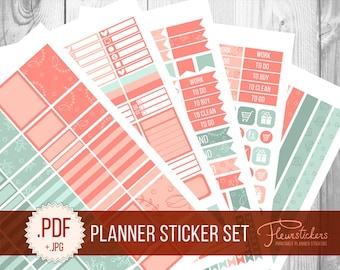 Printable Planner Sticker Set planner Stickers pack stickers Monthly stickers Planner Sticker Pack Planner sticker for use with Erin Condren