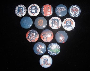 Detroit Tigers Buttons Set of 15