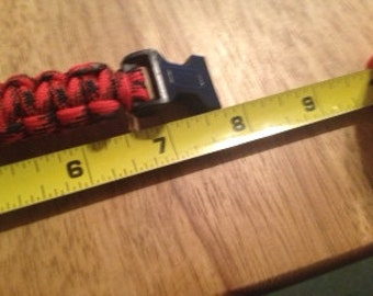 paracord bracelet Custom Colors available .. Up to 2 colors