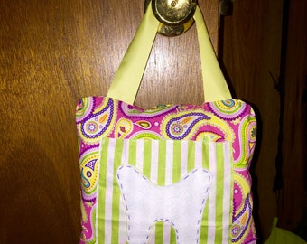 Girls Paisley Print Tooth Fairy Pillow with Tooth Pocket