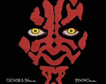 Darth Maul, Darth Vader, Star Wars, embroidery, embroidery design, in 2 sizes, Instant Download
