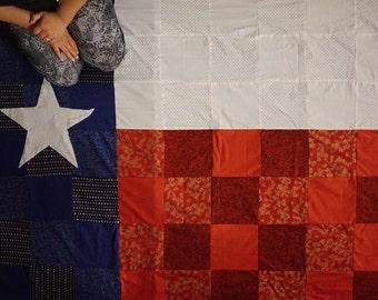 Texas quilt, texas state flag quilt, texas flag, texas state, texas state quilt, texas flag quilt, TX quilt, Texas, TX. Texas flag quilt