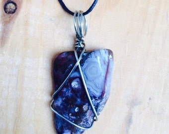 Handcrafted wire wrapped rock
