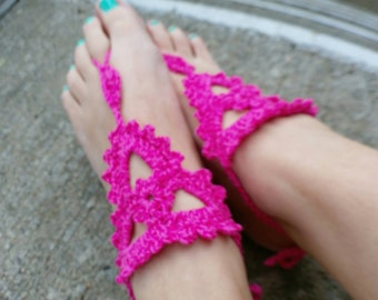Barefoot Sandals Crochet Triangle Design
