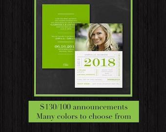 Graduation Invitation/choose your colors