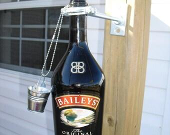 Upcycled Baileys Irish Cream Bottle Citronella Torch Light
