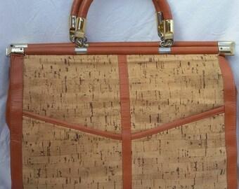 Vintage woman's briefcase / handbag