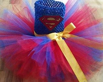 SUPERMAN newborn photo prop tutu