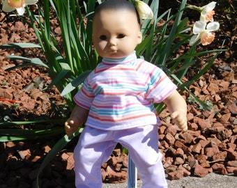 15 inch Doll Pants and T Shirt