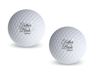 18 pcs Father of the Bride Personalized Golf Balls (MICPFBGB46)