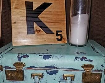 Wooden letter tiles!