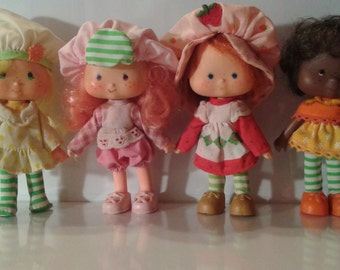 Lot of 14 Vintage Strawberry Shortcake Dolls 1970's 1980's