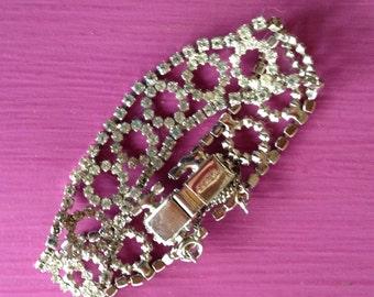 WEISS rhinestone bracelet ~ Glamour!