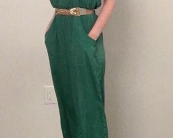 Emerald Off shoulder Overall Jumper