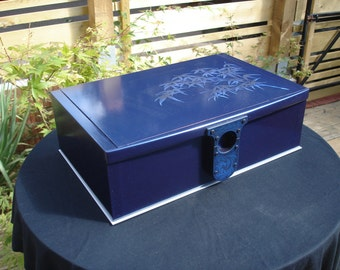 Blue Bamboo jewellery box