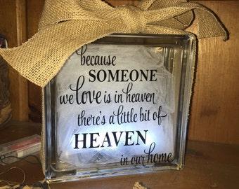 Heaven Lit Glass Block