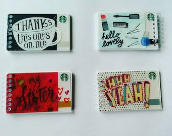 Up cycled Starbucks Gift card Notepads
