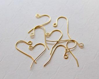 Gold Ear Wires, Wholesale Earring Hook, Drop Earring Wire, Wholesale Jewelry Supply, Bulk Gold Plated Earring Wires, Earwire