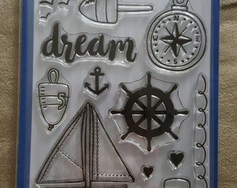 Ocean Journey's clear stamp set by Whimsy Stamps