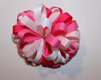 Flower loop hair bow