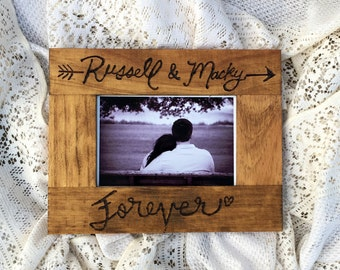 Forever frame | personalized picture frame | wedding decor | wood burned | pyrography