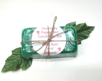 5.6 oz Rosemary & Peppermint Conditioner Bar - Solid Conditioner