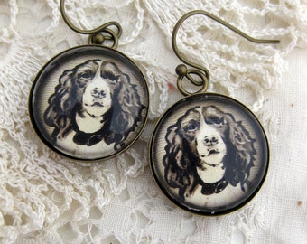 Springer Spaniel Dog Earrings