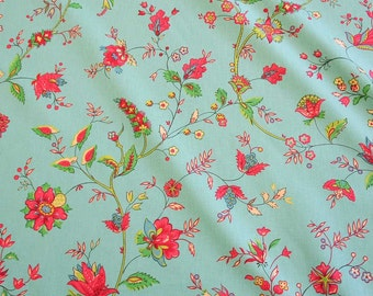 cotton fabric Bengali turquoise provencale Provence France colourful