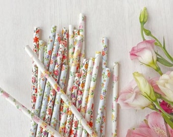 FLORAL Paper Straw, Assorted Multi-Pack