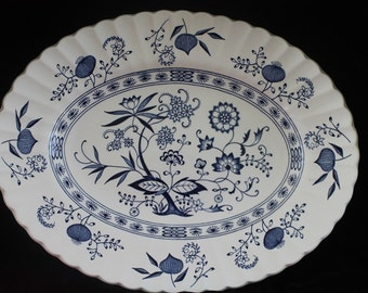 Vintage Classic D&G Meakin Blue Nordic Serving Platter 12 in English IronStone  Free Shipping
