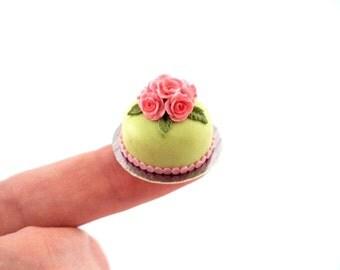 Green Pastel Cake 1/12 scale Dollhouse miniature