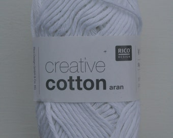 Rico Creative Cotton Aran White 080