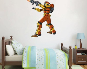 kcik1548 Full Color Wall decal cool robot arms bedroom children's room