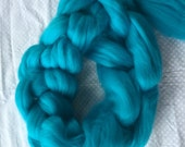 Turquoise - Gigantic Roving  Extreme Chunky Jumbo  - All natural merino fiber- 1 pound each - Color - Turquoise