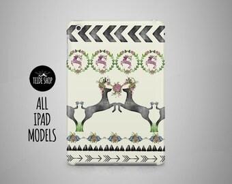 Pattern Deer iPad Case Watercolor iPad Mini Case iPad Mini 3 4 Cover iPad Cover iPad Air 2 Case iPad Sleeve Birthday Gift Idea iPad 3 4 Case