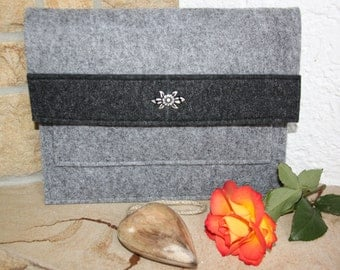 iPad case, iPad Wallet case, Feltbag, felt case sleeve, felt bag, iPadtasche, felt iPadtasche, Tablet case, Tablet Wallet case