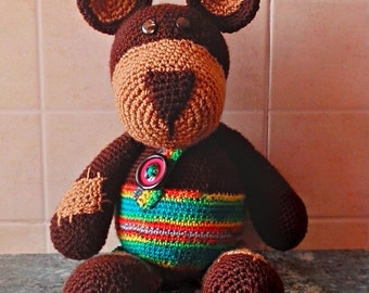 Baby bear brown knitted crochet