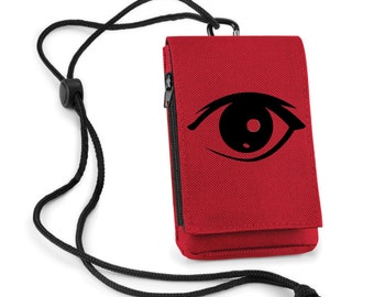 Mobile Phone Pouch Red Eye Printed