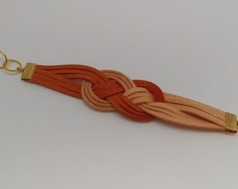 Dual color bracelet (orange/cream)