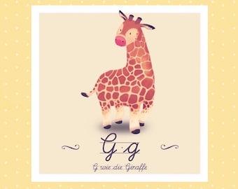 Animal ABC - G like giraffe