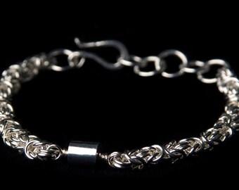 Byzantine Bracelet with Tube Focal Bead