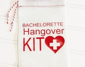 Bachelorette Hangover Kit Bag With Red Heart Cross