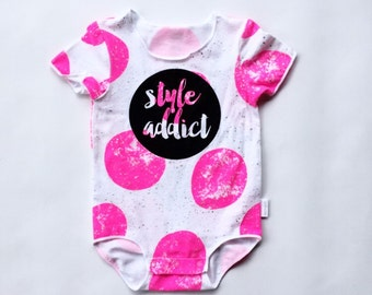Baby Girl Outfit {Style Addict} Screenprinted Onesie / Romper / Bodysuit / Leotard