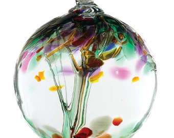 Hand Blown Art Glass- Kitras- REMEMBRANCE-6""