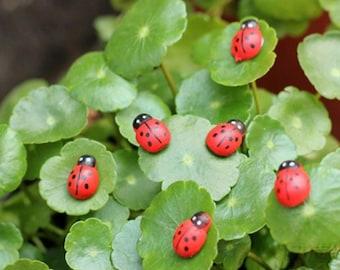 Ladybird/Ladybug Sticker Cabochons (11 PCS)