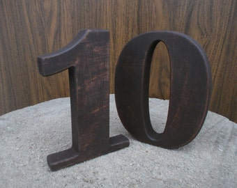 "1-15 5"" Free standing numbers, Wooden table numbers, Wedding table decoration, Wedding reception decor, Rustic Table Numbers, Table decor"