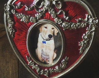 Red Heart Picture Frame