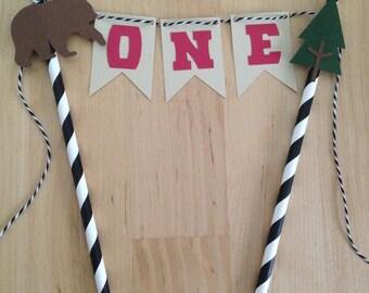 Lumberjack Bash Cake Topper/Lumberjack/First Birthday/ Boy Birthday/Woods/Lumberjack Smash Cake