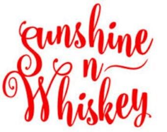 Sunshine & Whiskey Decal, Whiskey Decal, Sunshine Sticker